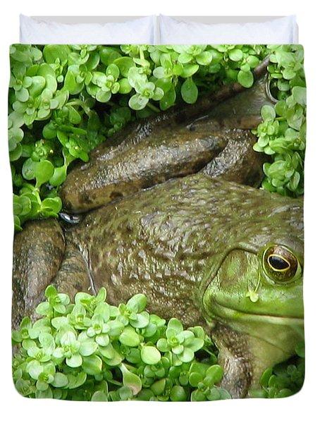 Frog Duvet Cover by DejaVu Designs