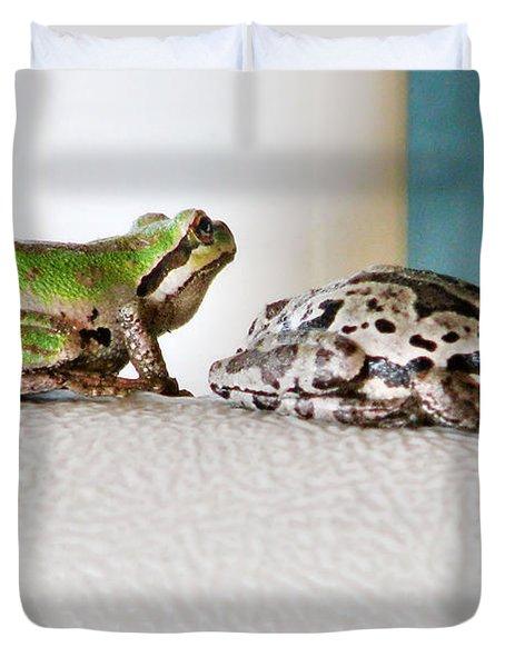 Frog Flatulence - A Case Study Duvet Cover