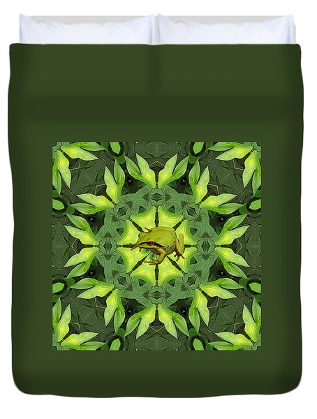 Duvet Cover featuring the photograph Froggy Went A Wooing by I'ina Van Lawick
