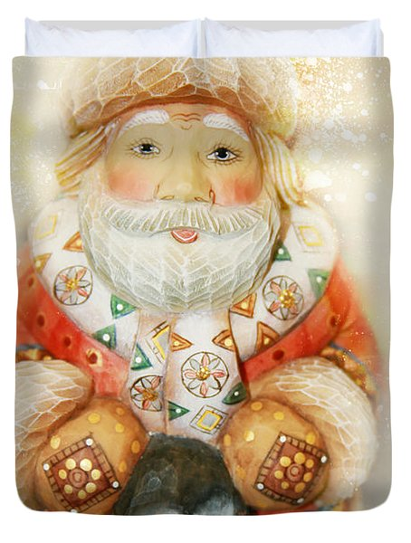 frohe Weihnachten Duvet Cover by Sharon Mau