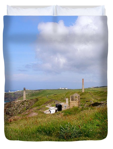 From Levant To Pendeen Cornwall Duvet Cover by Terri Waters