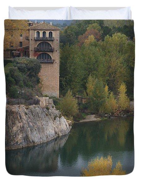From Pont Du Gard Duvet Cover