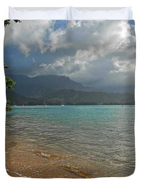 From Princeville To Hanalei Duvet Cover