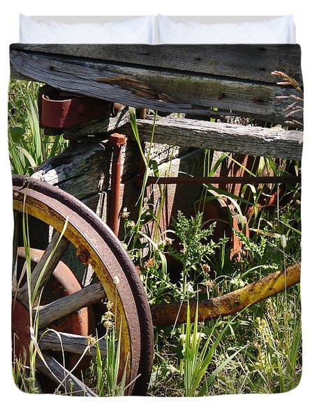 From Rust To Grass Duvet Cover by Meghan at FireBonnet Art