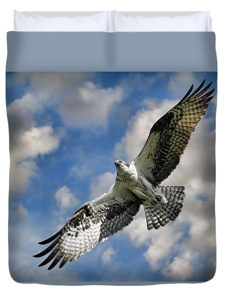 From The Clouds Duvet Cover by Steve McKinzie