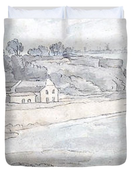 From The Heathfields Seat Duvet Cover by Francis Towne