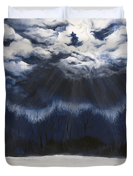 From The Midnight Sky Duvet Cover