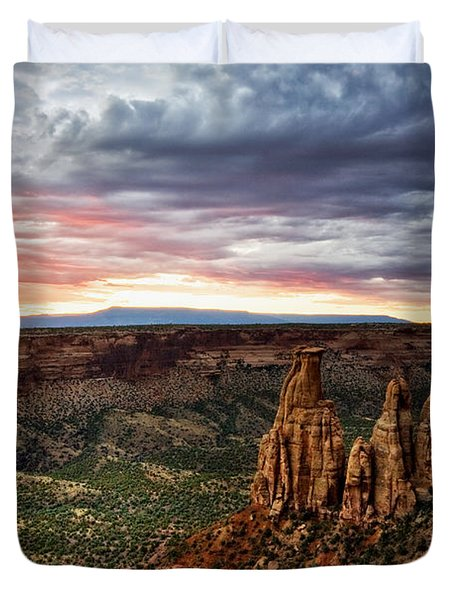 From The Overlook - Colorado National Monument Duvet Cover