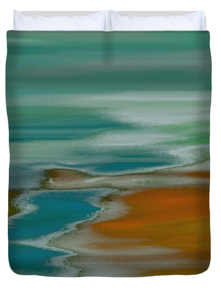 From The River To The Sea Duvet Cover