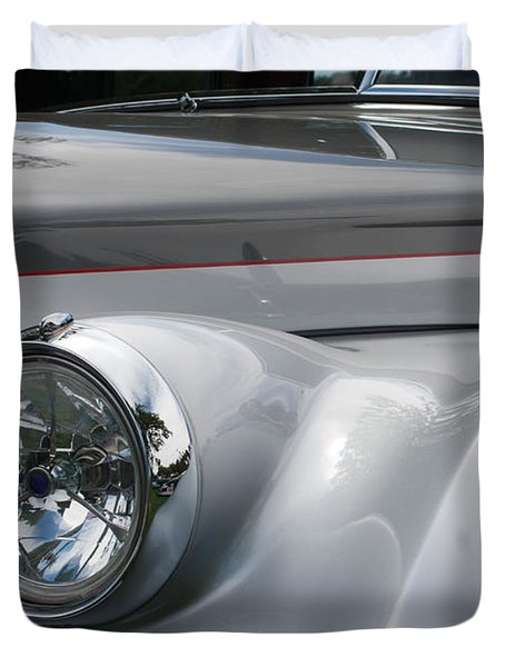 Duvet Cover featuring the photograph Front Of A Rolls Royce by Gunter Nezhoda