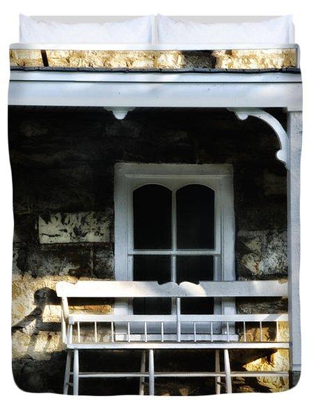Front Porch Bench Duvet Cover