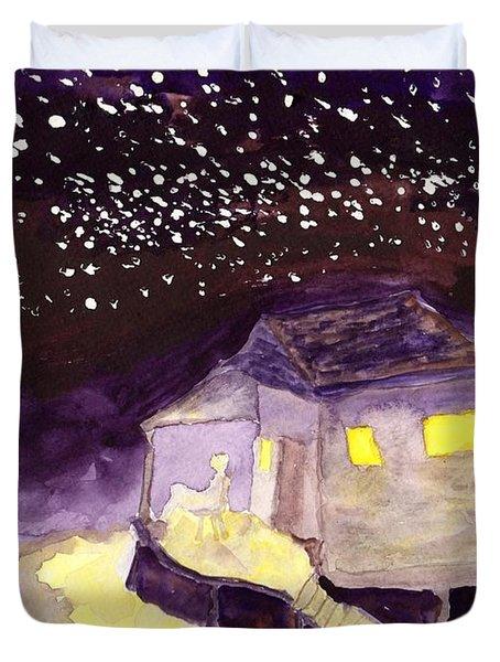 Front Porch Stars Duvet Cover
