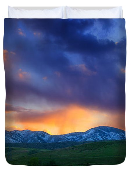 Front Range Light Show Duvet Cover