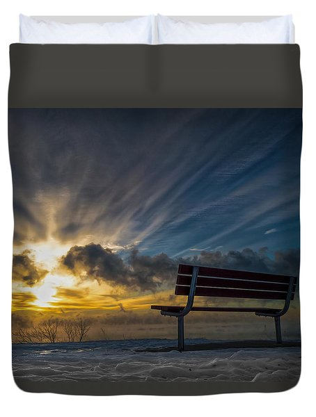 Front Row Duvet Cover by James  Meyer