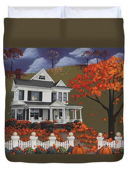 Front Row Seats At Wingate Place Duvet Cover by Catherine Holman