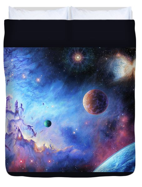 Frontiers Of The Cosmos Duvet Cover