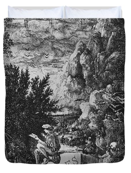 Frontispiece Illustration From Fables By Hippolyte De Thierry-faletans Duvet Cover