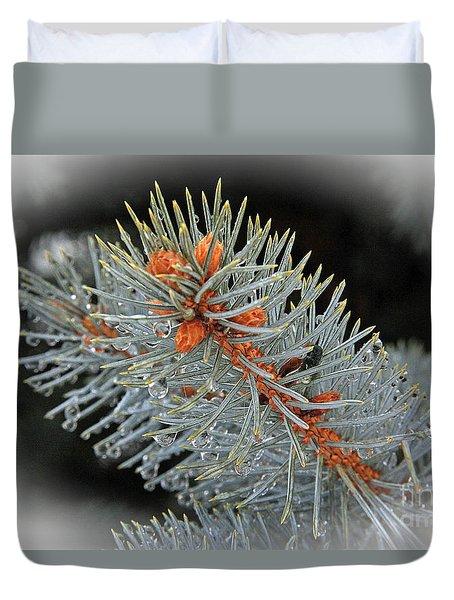 Frost Drops Duvet Cover by Bob Hislop