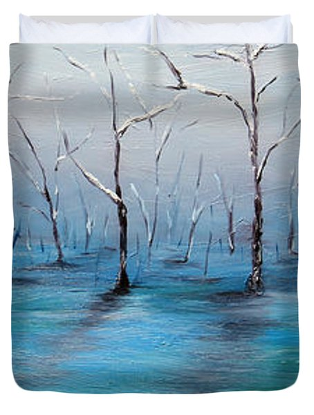 Duvet Cover featuring the painting Frost Like Ashes by Meaghan Troup