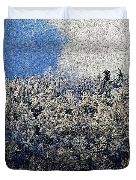 Frost Line 2 Duvet Cover by Tom Culver