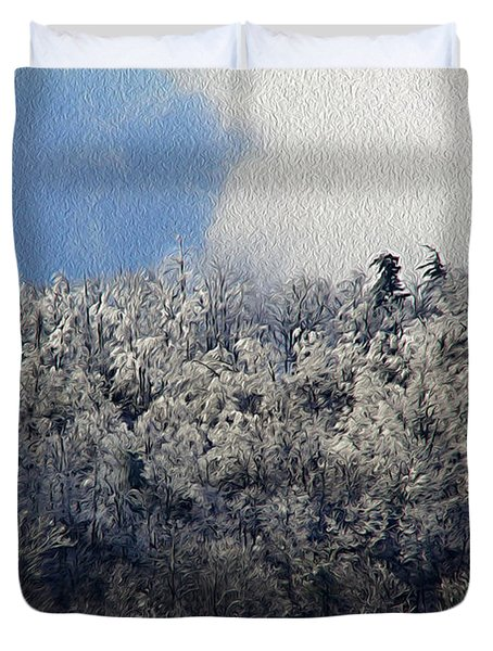 Frost Line Duvet Cover by Tom Culver