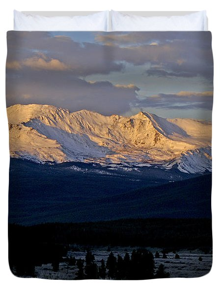 Frost Settles In Duvet Cover by Jeremy Rhoades