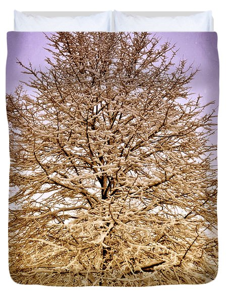 Frosted Branches Duvet Cover by Marty Koch