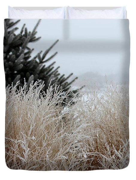 Frosted Grasses Duvet Cover
