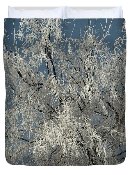 Frosted Tree 01 Duvet Cover