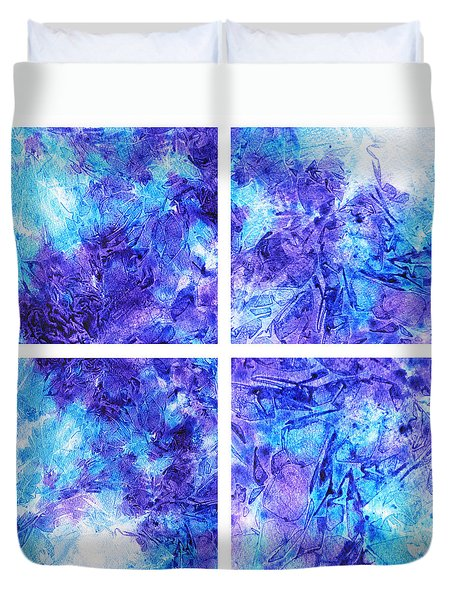 Frosted Window Abstract Collage Duvet Cover