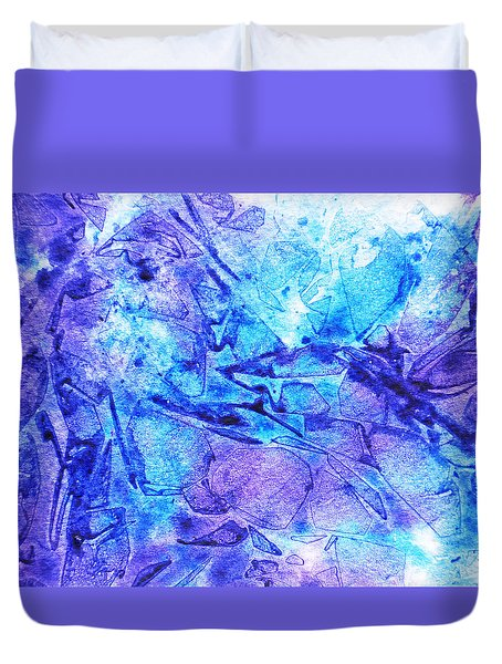 Frosted Window Abstract II  Duvet Cover