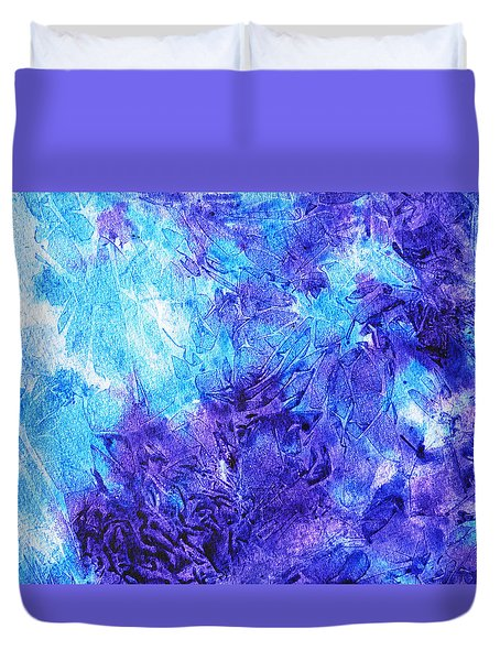 Frosted Window Abstract IIi Duvet Cover