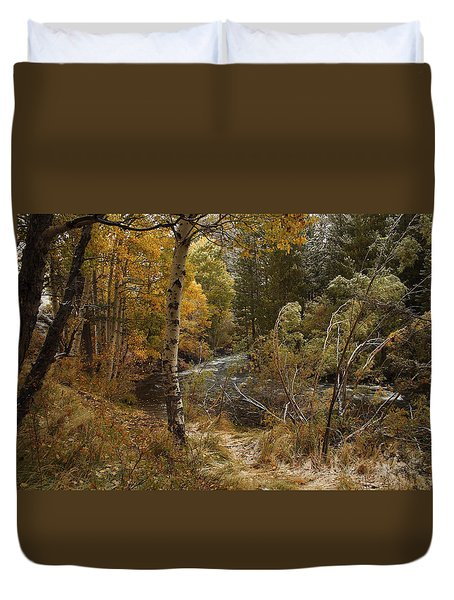 Frosty Fall  Morning Duvet Cover