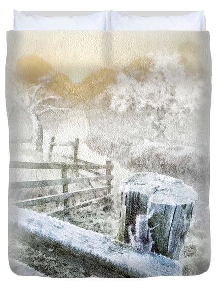 Frosty Morning Duvet Cover by Mo T