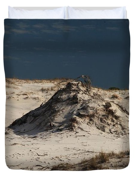 Frosty White Dunes Duvet Cover by Adam Jewell