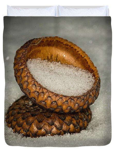 Frozen Acorn Cupule Duvet Cover