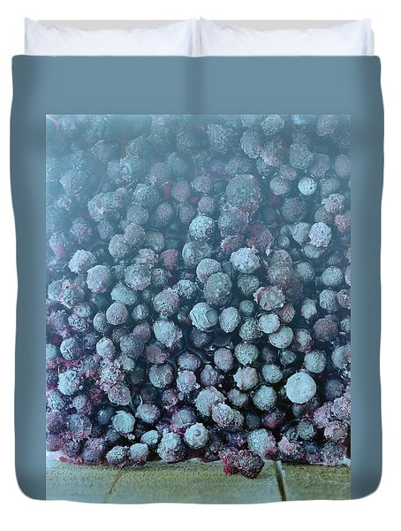 Frozen Blueberries Duvet Cover