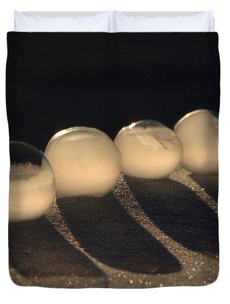 Frozen Bubbles Duvet Cover