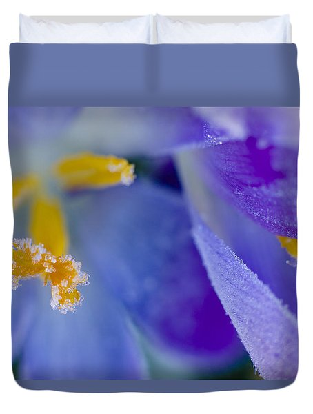 Frozen Crocus Duvet Cover