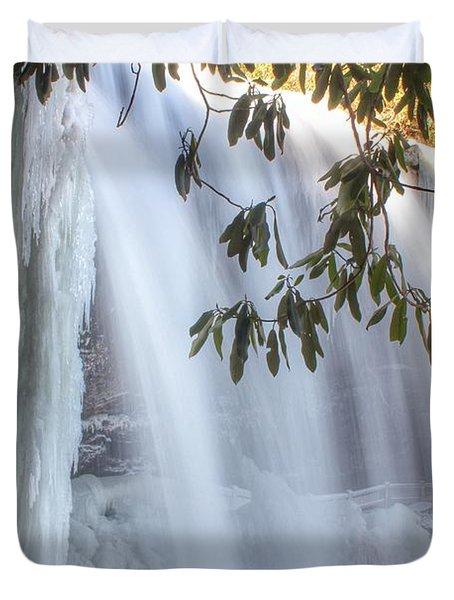 Frozen Dry Falls Duvet Cover