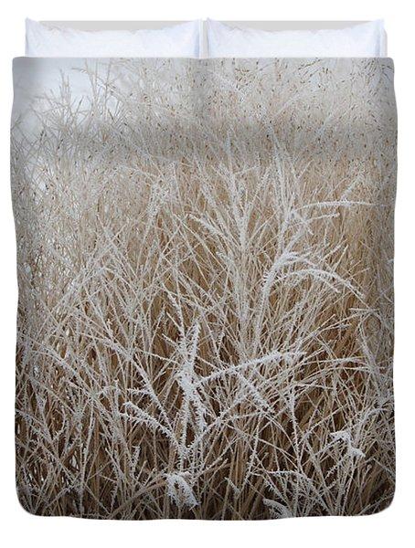 Frozen Grass Duvet Cover
