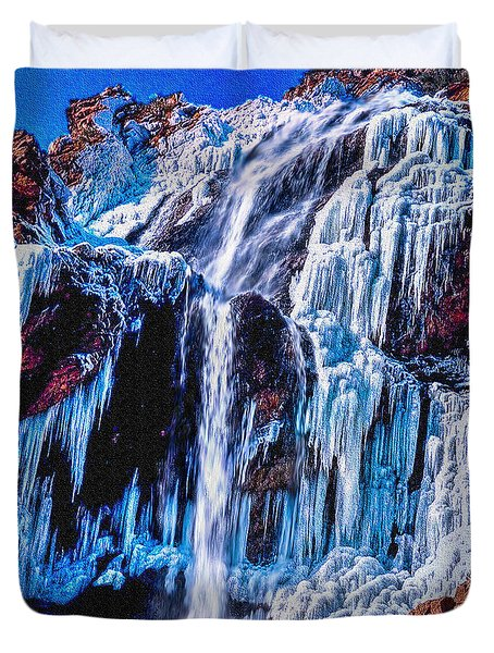 Frozen In Motion Duvet Cover by Bob and Nadine Johnston
