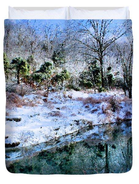 Frozen Duvet Cover by Kristin Elmquist
