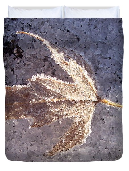 Frozen Leaf Duvet Cover