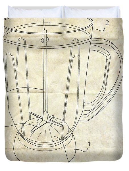 Frozen Margarita Recipe Patent Duvet Cover by Edward Fielding