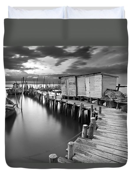 Frozen Melody Duvet Cover by Jorge Maia