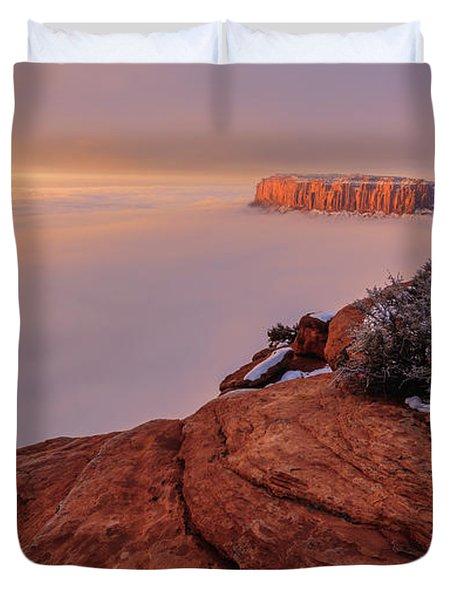 Frozen Mesa Duvet Cover