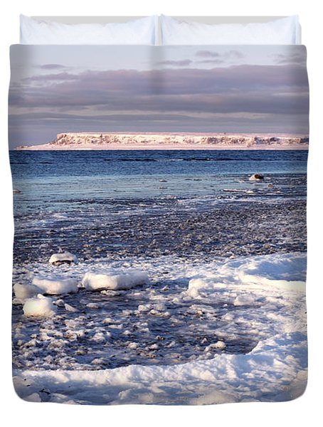 Frozen Shore Duvet Cover