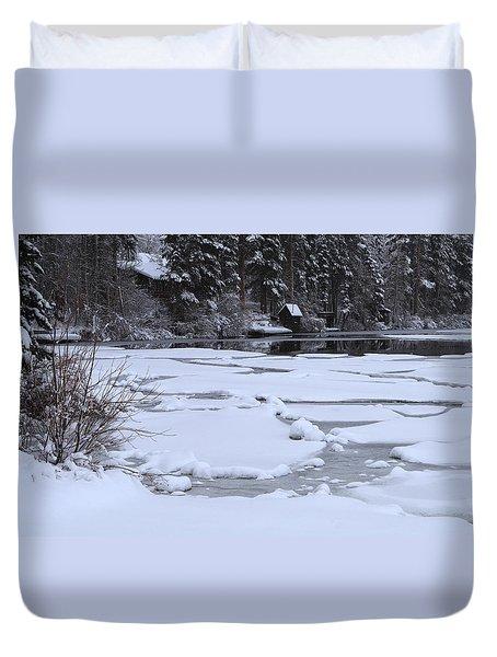 Frozen Silence  Duvet Cover