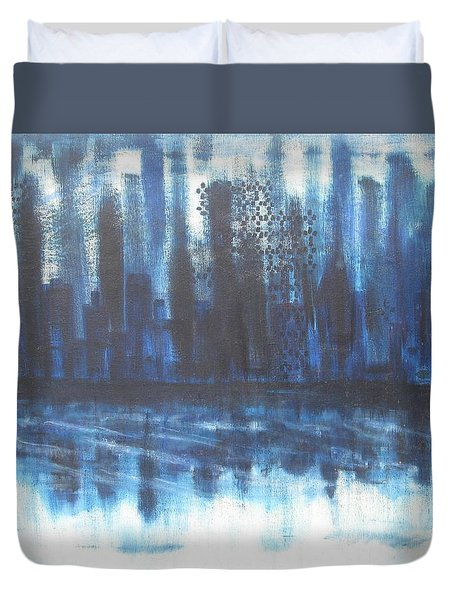 Frozen Skyline Duvet Cover